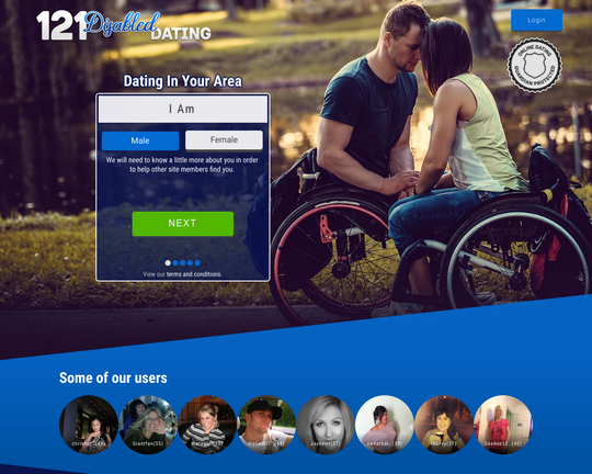 121 Disabled Dating Logo
