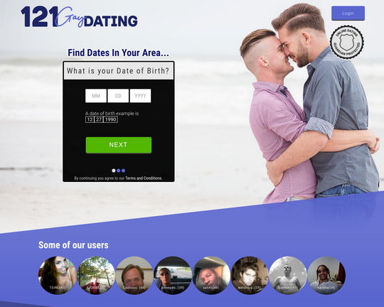 121 Gay Dating Logo