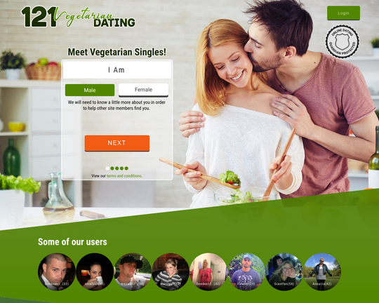 121 Vegetarian Dating Logo