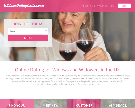 Widows Dating Online Logo